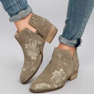 Seychelles lantern taupe suede leather booties